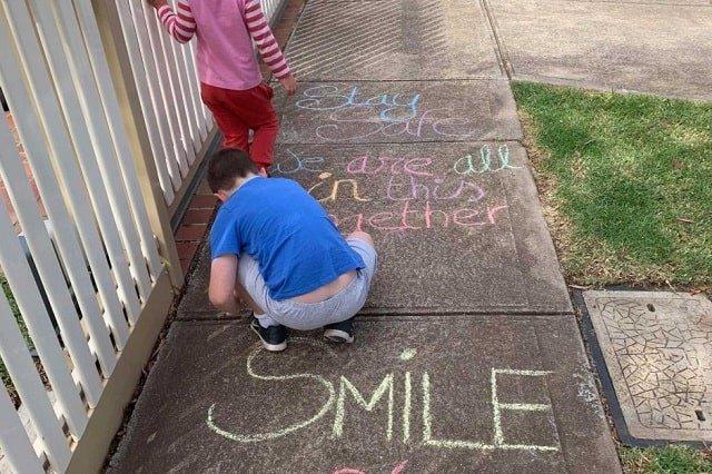 Kids Painting on Street
