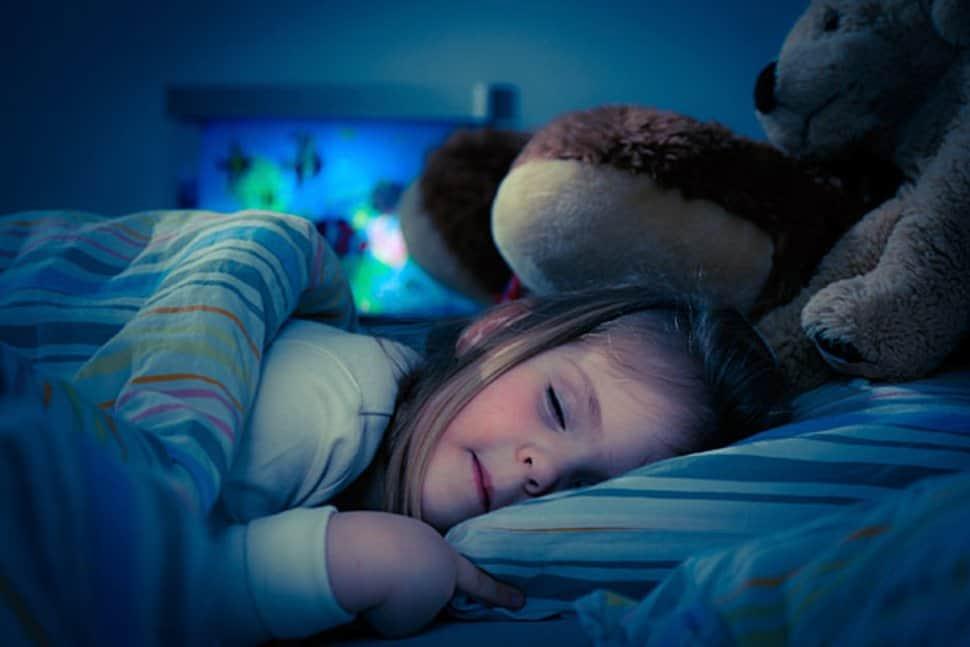 girl sleeping in the dark