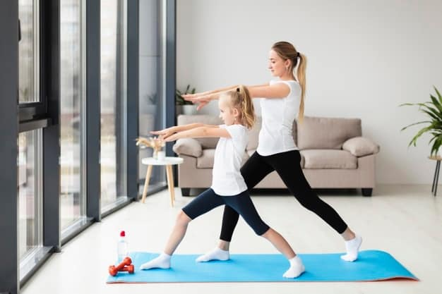 mother-exercising-along-with-child