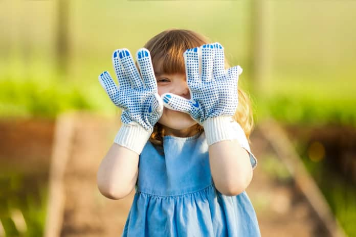 Little-Girl-in-Gardening-Gloves